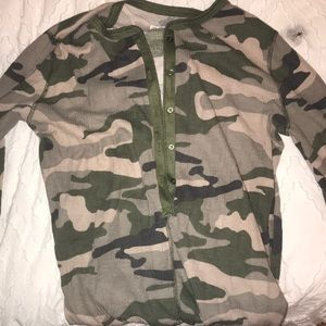 Other - Camo winter onsie